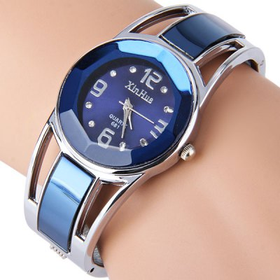 GEEKTHINK Metropolitan Luxury Quartz Watch Women Bracelet Rose Gold Steel Band Casual Watches - Jewelry