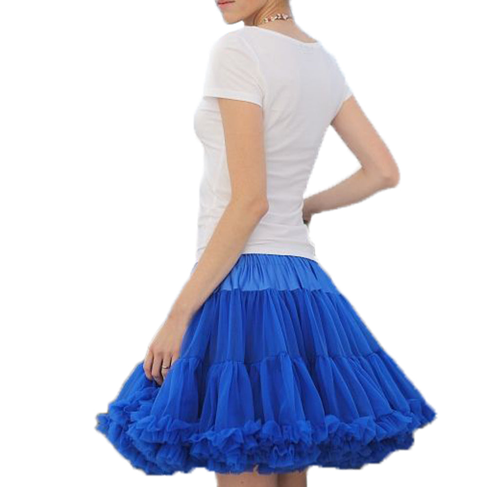 Women Skirt Fluffy Chiffon Pettiskirts tutu skirts girls Princess Party Lady adult Tulle Skirt