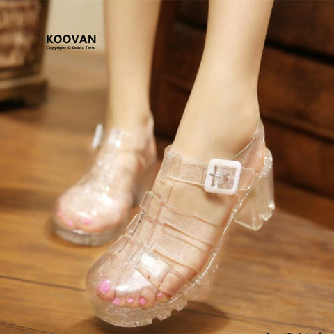 Koovan Women Sandals Summer Shoes Girl's Bow Diamond Pearl Flat Sandals Woman - Shoes