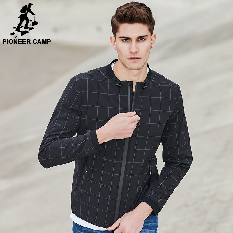 Pioneer Camp Jacket Men Clothing Plaid Coat Top Quality Casual Slim Fit Outerwear