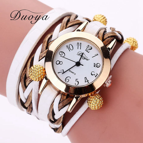 Rhinestone Clear Gem Crystal Bracelets Multilayer Chain Gold Filled Resin Party Women Bracelet - Jewelry