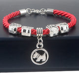 Hand-Woven Rope Chain Rope Bracelets Dog Paw Best Friend Charms Bracelets Jewelry - Jewelry