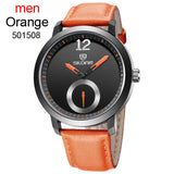 Men SKONE Genuine Watches 30m waterproof leather Women Men's Watch Casual Quartz Watches