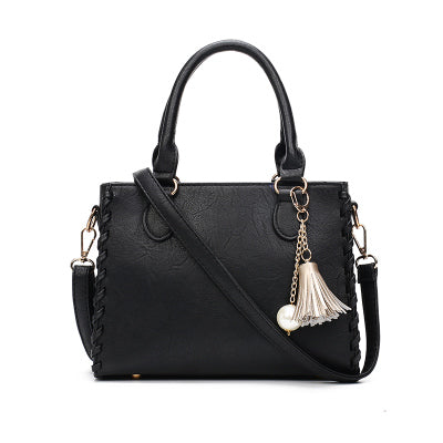 Women Shoulder Bags Matte Leather Brand Designer Handbag Weave Tassel Casual Tote Bag