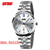 Men Luxury Watch Skmei Quartz Digital Men Full Steel Wristwatches Casual Watch