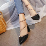 Women Pumps Rivets Sandals Comfortable Square Heels High Heels Summer Autumn Heels - Shoes