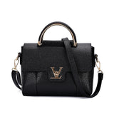 BANNINIU Flap V Women's Luxury Leather Black Clutch Bag Ladies Handbags Brand Messenger Bags