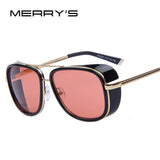 MERRY'S IRON MAN Matsuda TONY Steampunk Sun Glasses Men Mirrored Designer Vintage Sun Glasses