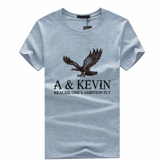 Summer Men Short-Sleeved T-shirt Slim Teenagers Inkjet Models Influx