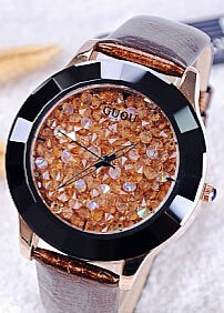 Hongkong Brand Women Rhinestone Watches Austrian Crystal Ceramic Leather Brand Watches