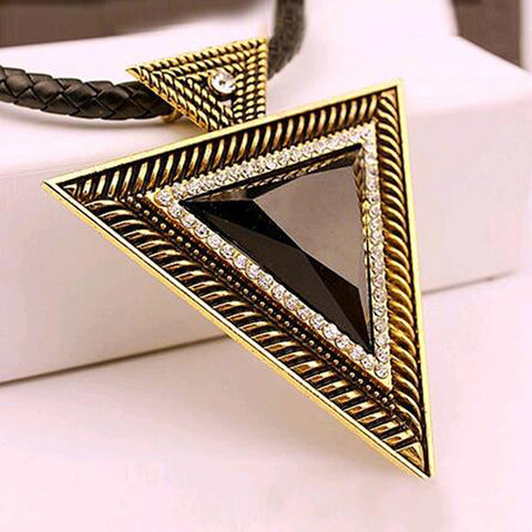 Pendant Necklace Fashion Chokers Statement Necklaces Triangle Pendants Rope Chain for Gift Party - Jewelry