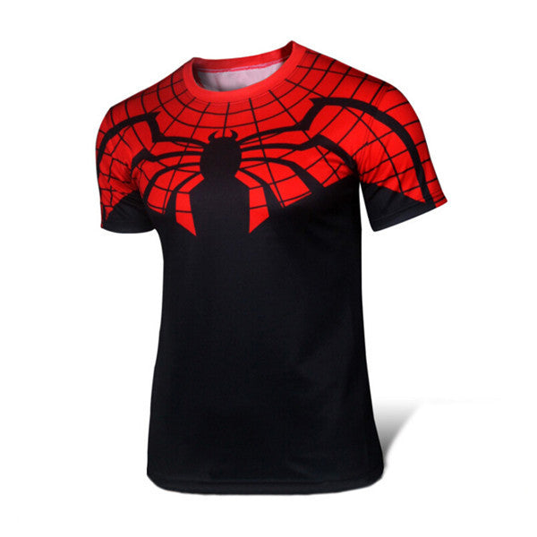 T-shirt Superman/Batman/Spider Man/Captain America /Hulk/Iron Man Men Fitness T shirts