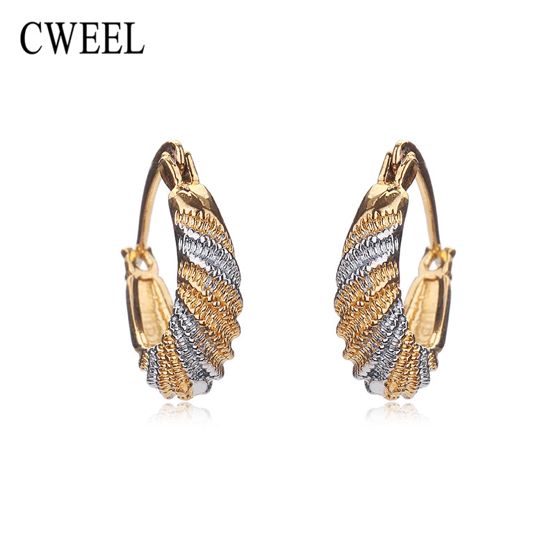 CWEEL Stud Earrings Austrian Mix Color Gold Plated New Wedding Bridal Party - Jewelry
