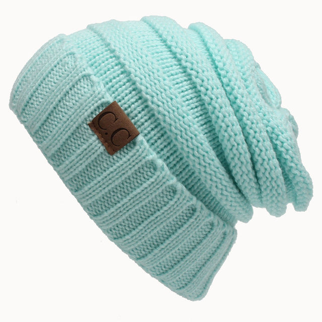Soft Trendy Chunky Stretch Cable Knit Slouchy Beanie Skully Teal Gift Light Warm Unisex Cap