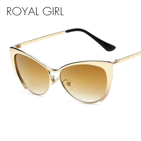 AEVOGUE Brand Cat Eye Bending Temple Sunglasses Women Sun Glasses Rhinestone