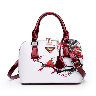 Printing Floral Women Bag Brand Shell Leather Bags Women Handbags Designer Summer Shoulder Bags