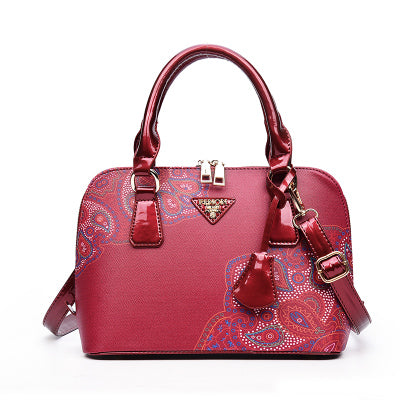 a6a37d2b1836 ... Printing Floral Women Bag Brand Shell Leather Bags Women Handbags  Designer Summer Shoulder Bags ...