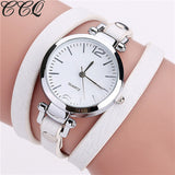 CCQ Brand Luxury Leather Bracelet Watch Ladies Quartz Watch Casual Women Wrist Watch - Jewelry