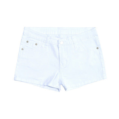 Summer Denim Shorts For Women Cotton Candy Color Short Jeans Mid Waist Black White Sexy Shorts