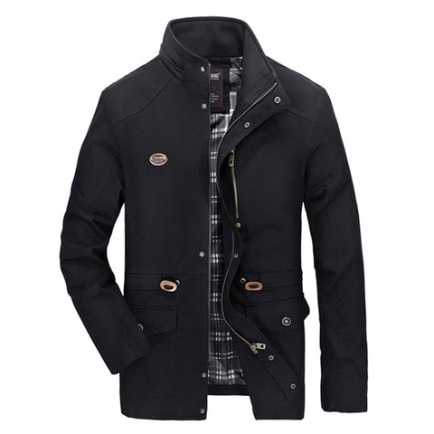 ZOOB MILEY Men Hooded Coat Hat Detachable COTTON Jackets Long Sleeve Military Casual Outerwear