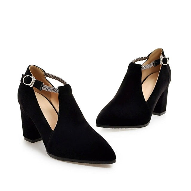 Women Pumps Plus Size Elegant Pointed Toe High Heels Wedding Lady Woman Shoes Black Red Blue - Shoes