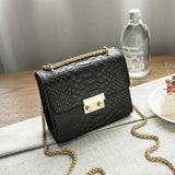 Golden Finger Brand Crossbody Bag Women Messenger Chain Luxury Purses PU Leather Shoulder Bag