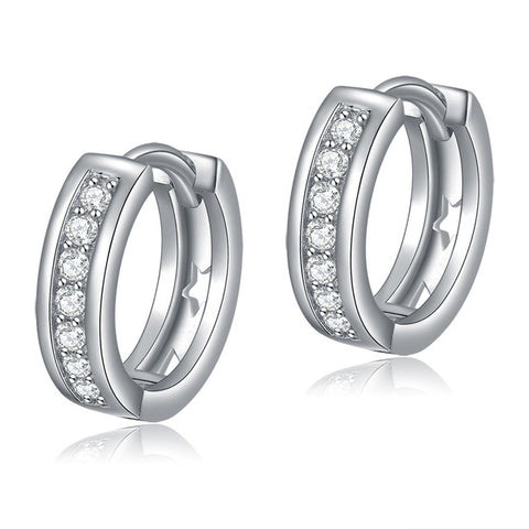 ORSA JEWELS Lead & Nickel Free Classic Silver Color Earrings Jewelry for Women - Jewelry
