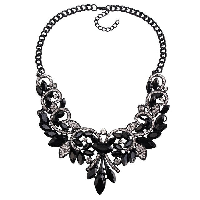 Spring Colorful Crystal Women Brand Maxi Statement Necklaces Pendants Vintage Turkish Jewelry - Jewelry