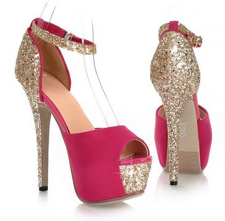 Glittering Sexy High Heels Platform Shoes Pumps Women's Wedding Shoes Lady Pumps - Shoes