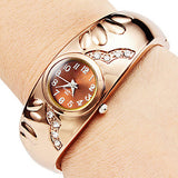 Rose Gold Watch Bracelet Watches Luxury Ladies Watch Clock Montre - Jewelry