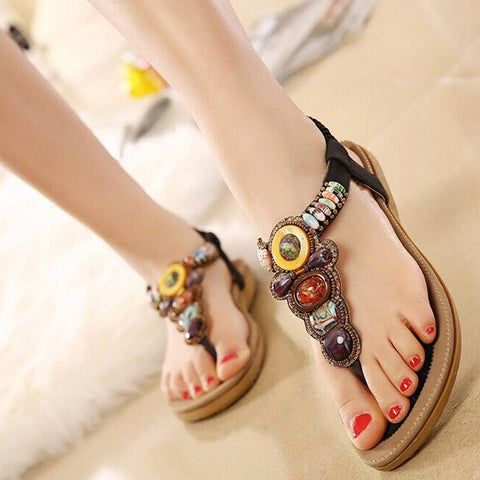 Women Summer Leisure Shoes Platform Wedges Fish Mouth Sandals Thick Bottom Slippers - Shoes