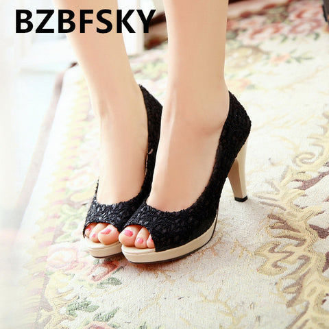 Open Toe High Heels Women Pumps Brand Shoes Women Sandals Wedding Pumps - Shoes