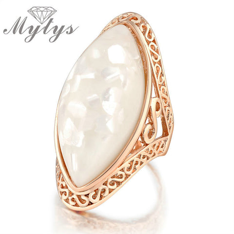 Cubic Zirconia Crystal Infinite Rings Women Statement Rose Gold Color Ring Wedding Jewelry