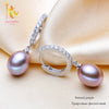 Pearl Jewelry Natural Freshwater Black Pearl Earrings Women 925 Sterling Silver Tear Drop Earrings - Jewelry