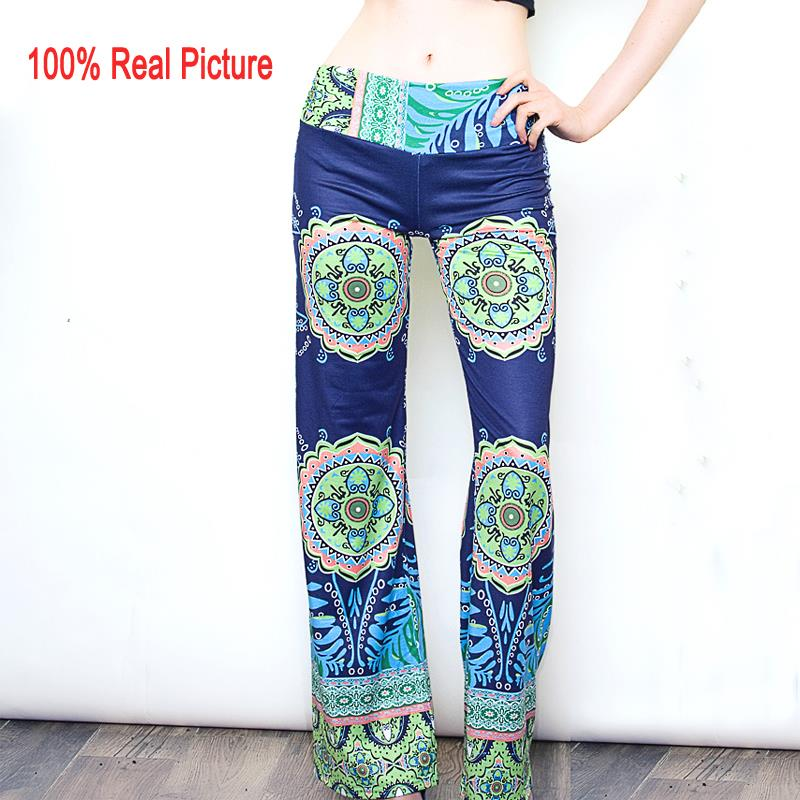 Casual High Waist Flare Wide Leg Long Pants Palazzo Trousers Floral Classic Exuma Pant Preppy