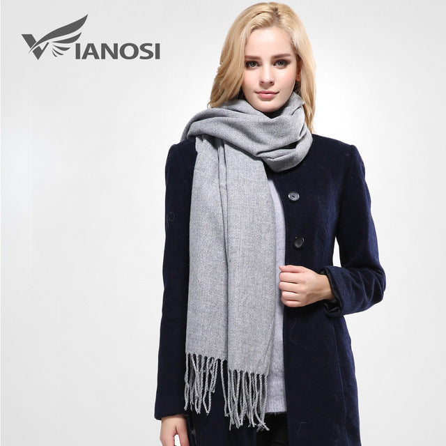 Female Cotton Solid Scarf Pashmina Studios Tassels Women Wraps