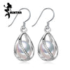 MINTHA Earring Long 925 Sterling Silver Wedding Birthday Pearl Jewelry Vintage Stud Earring - Jewelry