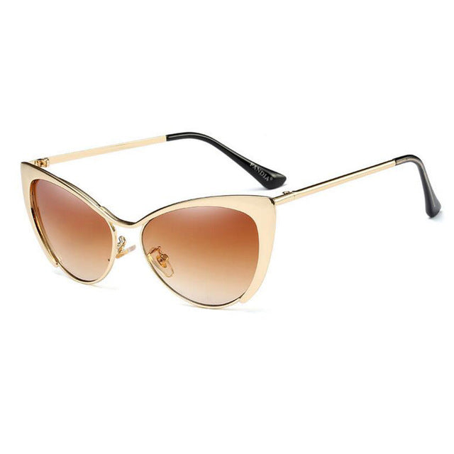 Metal Super Cute Cat Eye Sunglasses Women Brand Designer Vintage Retro Glasses Fashion Girls