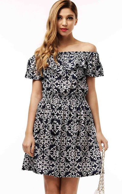 Spring Summer clothing floral print pattern casual dresses vestidos