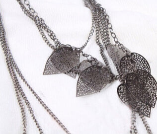 Women Accessories Alloy Multi-layers Vintage Stray Leaves Necklace - Jewelry