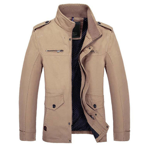 Riinr Male Jacket Slim Fit Autumn Clothing Men Jackets Zipper Warm Cotton-Padded