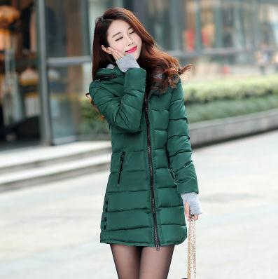 Wadded Jacket Women Winter Jacket Down Cotton Jacket Slim Parkas Ladies Coat Plus Size