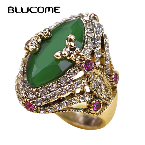 Gold Color Zircon Crystal Titanium Stainless Steel Rings For Women Men Wedding Jewelry Three Layers Beauty anillos Female Rings - Jewelry