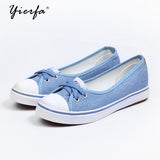 Spring Light Canvas Women Shoes Slip-on Korean Tide Students Set Flat - Shoes