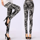 TOIVOTUKSIA Women Leggings Pantalones Black Milk Print Summer Soft Skin Material Leggings