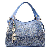 VORMOR Hollow Out Large Leather Tote Bag Luxury Women Shoulder Women Brand Handbag