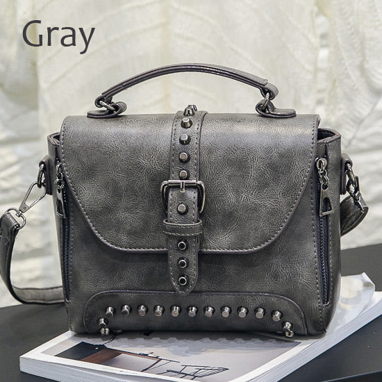 5db547a9d4cf ZMQN Women Messenger Vintage Bag Ladies Famous Brand Crossbody Bag Rivet  Small Handbags ...