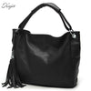 TETHYS Leather Women Handbags Tassel Female Bag Crossbody Women's Shoulder Bags Ladies Casual Tote