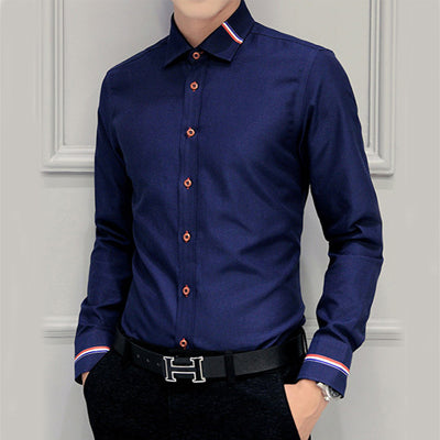 Men Shirts Brand Clothing Camisa Social Casual Men Shirt Slim Fit Long-Sleeve Camisa Masculina