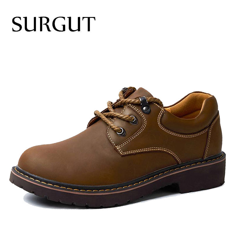 Handmade Breathable Men Oxford Shoes Top Quality Flats Genuine Leather Casual - Shoes